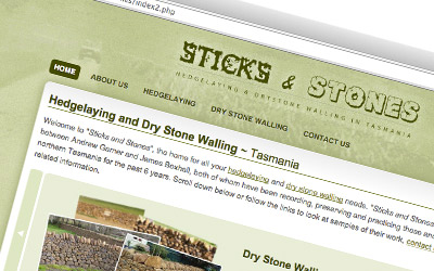 Small website built with PHP and MySQL. Sticksandstones.net.au