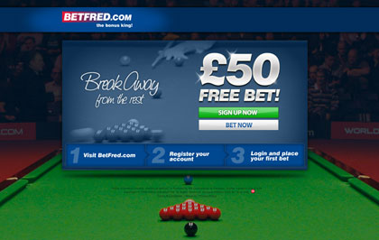 Landing page: Betfred Sports