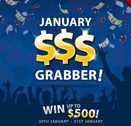 Promotional Graphic: January $$$ Grabber