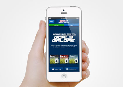 iOS App for Betfred Goals Galore